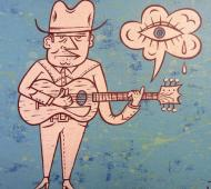 lonesome cowboy blues print