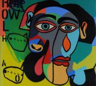 Johnny Romeo Hollo Apollo 2012 acrylic and oil on canvas 71cm x 71cm 450