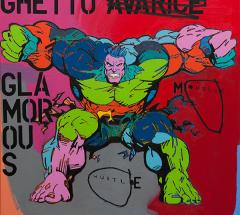 Muscle Hustle, 2014, acrylic and oil on canvas, 101cm x 101cm, $3650 SOLD